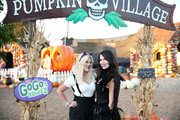 Tori spelling (L) and Erin Ziering attend the GoGo squeeZ GoGoWeen Halloween Launch Event on October 07, 2019 in Los Angeles, California.