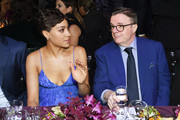 Cush Jumbo and Nathan Lane  attend God's Love We Deliver, Golden Heart Awards at Spring Studios on October 16, 2018 in New York City.
