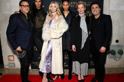 (L-R) Gerard Maione, Lais Ribeiro, Elsa Hosk, Chanel Iman, Gretchen Mol, and Seth Weisser attend the What Goes Around Comes Around Madison Avenue Flagship Opening Celebration with Pernod Ricard on February 08, 2019 in New York City.