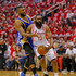 James Harden Festus Ezeli Photos - James Harden #13 of the Houston Rockets is fouled by Festus Ezeli #31 of the Golden State Warriors as he drives to the basket  at Toyota Center on April 21, 2016 in Houston, Texas.  NOTE TO USER: User expressly acknowledges and agrees that, by dowloading and/or using this photograph, user is consenting to the terms and conditions of the Getty Images License Agreement. - Golden State Warriors v Houston Rockets - Game Three