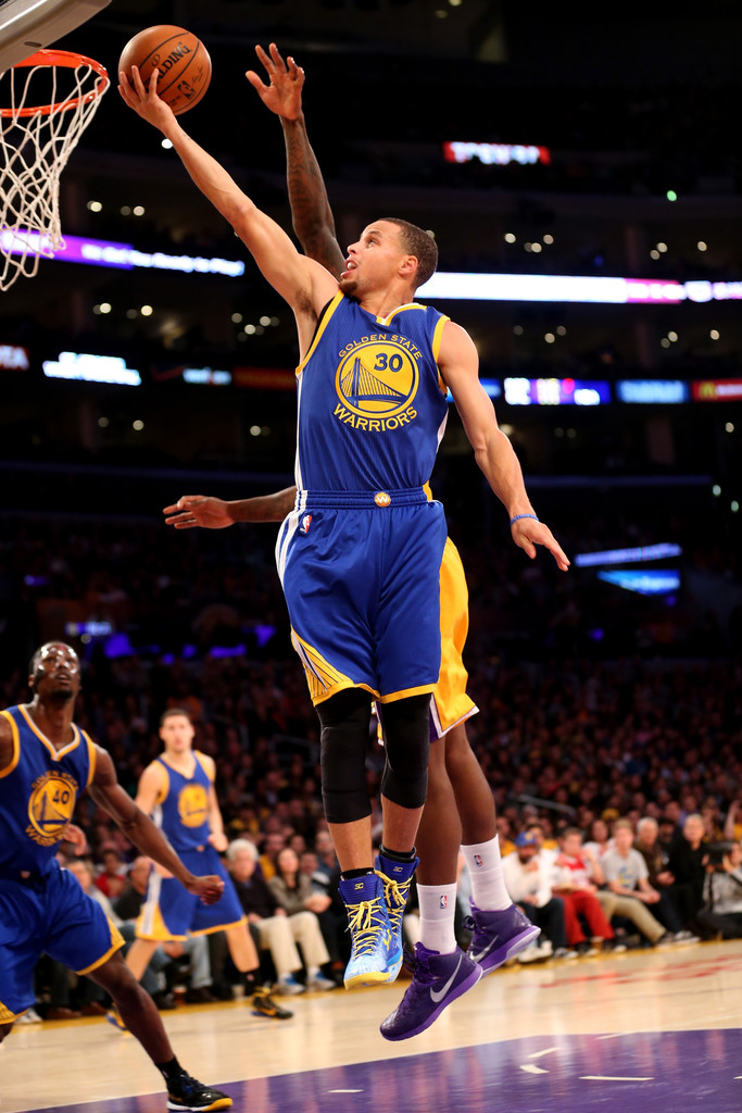 stephen curry in golden state warriors v los angeles