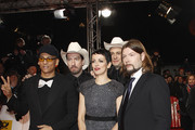 Xavier Naidoo, Sascha 'Hoss' Vollmer, Nena and Alec 'Boss' Vollmer attend the 47th Golden Camera Awards at the Axel Springer Haus on February 4, 2012 in Berlin, Germany.