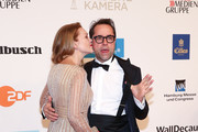 Jan Josef Liefers and Anna Loos attends for the Goldene Kamera on February 22, 2018 in Hamburg, Germany.