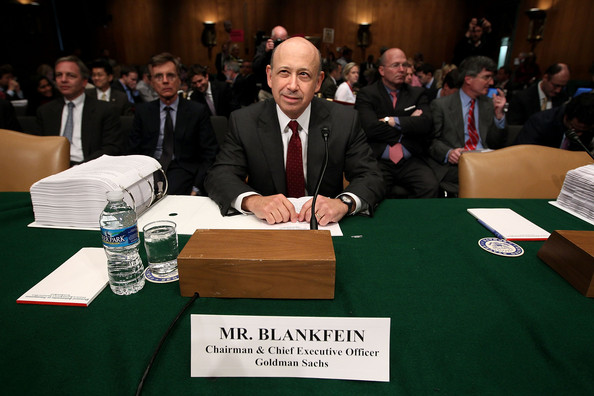 Lloyd Blankfein Lloyd Blankfein, chairman and CEO of The Goldman Sachs Group, hears from a lawyer while preparing to testify before the Senate Homeland Security and Governmental Affairs Investigations Subcommittee on Capitol Hill on April 27, 2010 in Washington, DC. The subcommittee is investigating the role of investment banks during the Wall Street financial crisis.
