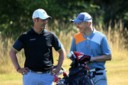 Mark Ridley of South Moor GC and David Clark of Morpeth GC during day one of the Golfbreaks.com PGA Fourball Championship Final at De Vere Carden Park Hotel on August 12, 2015 in Chester, England.