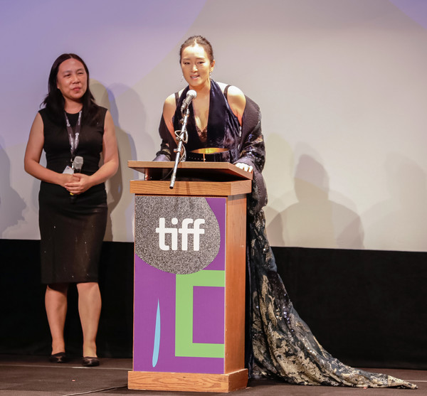 2019 Toronto International Film Festival - 'Saturday Fiction' Premiere [saturday fiction,award ceremony,event,award,speech,public speaking,orator,gong li,toronto,canada,winter garden theatre,toronto international film festival,premiere]