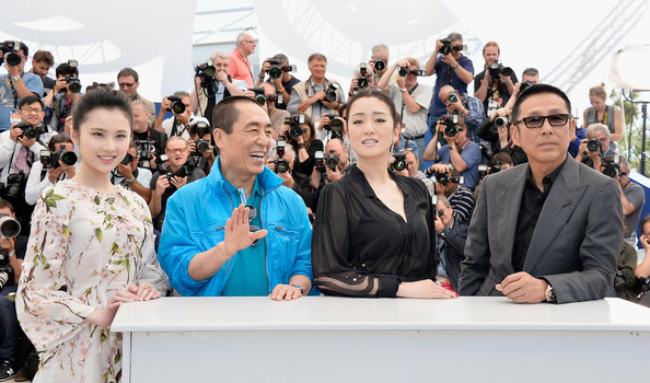 'Coming Home' Photo Call at Cannes [coming home photocall,people,event,youth,community,crowd,audience,human,recreation,ceremony,tourism,yimou zhang,huiwen zhang,gong li,daoming chen,l-r,photocall,cannes,france,cannes film festival]