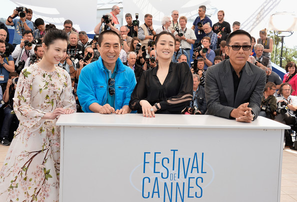 'Coming Home' Photo Call at Cannes [coming home photocall,people,community,event,crowd,adaptation,recreation,team,employment,tourism,yimou zhang,huiwen zhang,gong li,daoming chen,l-r,photocall,cannes,france,cannes film festival]