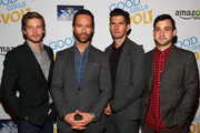 "(L-R) Hunter Parrish, Chris Diamantopoulos, Daniel Eric Gold, Teddy Bergman attend ""Good Girls Revolt"" preview night screening, NYC hosted by TriStar Television at Roxy Hotel on November 4, 2015 in New York City."