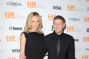 """Rachel Roberts and director Andrew Niccol (R) attend the """"Good Kill"""" premiere during the 2014 Toronto International Film Festival at Ryerson Theatre on September 9, 2014 in Toronto, Canada."""
