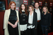 (L-R) Sarah Rafferty, Troian Bellisario, Arwa Damon, Patrick J. Adams and Samantha Nutt attend the Good For A Laugh comedy fundraiser to support children affected by war at Largo At The Coronet on March 01, 2019 in Los Angeles, California.