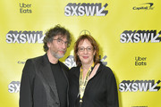 "(L-R) Writer and executive producer Neil Gaiman and SXSW director of film Janet Pierson attend the Good ""Omens: The Nice and Accurate"" SXSW Event during the 2019 SXSW Conference and Festivals at ZACH Theatre on March 09, 2019 in Austin, Texas."