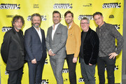 "(L-R) Writer and executive producer Neil Gaiman, actors Michael Sheen, Jon Hamm and David Tennant, director Douglas Mackinnon, and executive producer Rob Wilkins attend the Good ""Omens: The Nice and Accurate"" SXSW Event during the 2019 SXSW Conference and Festivals at ZACH Theatre on March 09, 2019 in Austin, Texas."