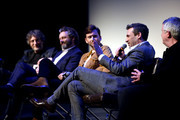 (L-R) Neil Gaiman, Michael Sheen, David Tennant, Jon Hamm and Douglas Mackinnon at Good Omens: The Nice and Accurate event during SXSW at ZACH Theatre on March 09, 2019 in Austin, Texas.