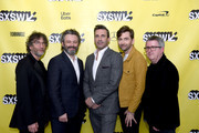 (L-R) Neil Gaiman, Michael Sheen, Jon Hamm, David Tennant and Douglas Mackinnon at the Good Omens: The Nice and Accurate event during SXSW at ZACH Theatre on March 09, 2019 in Austin, Texas.
