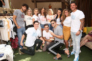 Brett Caprioni, Dayna Kathan, Tom Sandoval, Lala Kent, James Mae, Co-Founder Kristen Doute, Max Boyens, Ariana Madix, Tom Schwartz, Scheana Shay, Brittanny Cartwright and Jax Taylor attend The Garage Sale featuring James Mae and Friend presented by Good Times at Davey Wayne's on August 07, 2019 in Los Angeles, California.