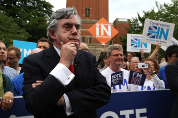 Gordon Brown The Prime Minister Gives His Final EU Referendum Campaign Speech