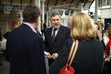 Lord Mandelson Gordon Brown Takes His Campaign Tour To The North East