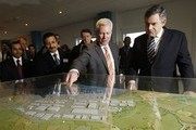 Gordon Brown and Sultan Ahmed Bin Sulayem Photos Photo