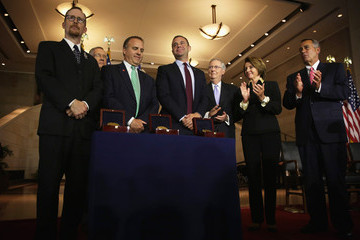 Gordon Felt Boehner And Congressional Leaders Present Congressional Gold Medal Honoring Fallen Heroes Of 9/11
