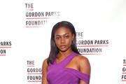 Model Zuri Tibby attends Gordon Parks Foundation: 2018 Awards Dinner & Auction at Cipriani 42nd Street on May 22, 2018 in New York City.