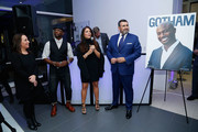 (L-R) Samantha Yanks, actor Taye Diggs, Gotham Magazine publisher Lynn Scotti Kassar and Arturo Pineiro attend the Gotham Men's Issue Celebration at the BMW of Manhattan Showroom on November 16, 2017 in New York City.