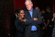 Jada Pinkett Smith and Bruno Heller attend the GOTHAM Series Premiere event on September 15, 2014 in New York City.