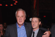 (L-R)  Actor Benjamin McKenzie and  Executive Producer Bruno Heller attend the 'Gotham' series premiere after party at The New York Public Library on September 15, 2014 in New York City.