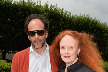 Grace Coddington Front Row at Christian Dior
