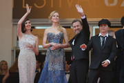 """(L-R) Actresses Paz Vega, Nicole Kidman, actor Tim Roth and director Olivier Dahan attend the Opening ceremony and the """"Grace of Monaco"""" Premiere during the 67th Annual Cannes Film Festival on May 14, 2014 in Cannes, France."""