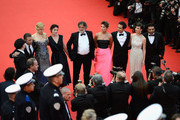 """(L-R) Director Olivier Dahan, actors Tim Roth, Nicole Kidman, Parker Posey, producer Pierre-Ange Le Pogam, screenwriter and producer Arash Ame (3 R), actress Paz Vega (2 R) attend the Opening ceremony and the """"Grace of Monaco"""" Premiere during the 67th Annual Cannes Film Festival on May 14, 2014 in Cannes, France."""