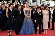 """Tim Roth (2 L), Nicole Kidman, Olivier Dahan and Paz Vega attend the Opening ceremony and the """"Grace of Monaco"""" Premiere during the 67th Annual Cannes Film Festival on May 14, 2014 in Cannes, France."""