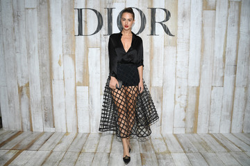 Grace Van Patten Christian Dior Couture S/S19 Cruise Collection: Photocall At Grandes Ecuries De Chantilly