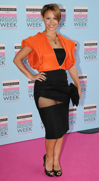 Amelle Berrabah attends the Graduate Fashion Week Gala Show at Earls Court on June 9, 2010 in London, England.