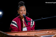 In this screengrab, Alicia Keys performs during Graduate Together: America Honors the High School Class of 2020 on May 16, 2020.