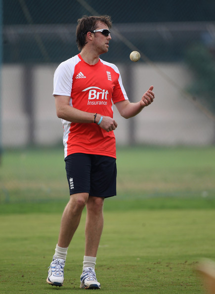 Graeme Swann Graeme Swann of England looks on during the England nets session at the  M. Chinnaswamy Stadium on February 26, 2011 in Bangalore, India.