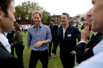 Graeme Swann Prince Harry Celebrates the Expansion of Coach Core at Lord's Cricket Club