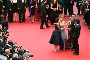 (L-R) Director Rebecca Zlotowski, actress Lea Seydoux, actress Camille Lellouch, actor Denis Menochet and actor Tahar Rahim attend 'Grand Central' Premiere during the 66th Annual Cannes Film Festival at Palais des Festivals on May 18, 2013 in Cannes, France.