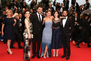 (L-R) Actress Camille Lellouche, actor Denis Menochet, actress Lea Seydoux, director Rebecca Zlotowski and actor Tahar Rahim attends 'Grand Central' Premiere during the 66th Annual Cannes Film Festival at Palais des Festivals on May 18, 2013 in Cannes, France.