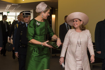 Grand Duchess Maria Teresa Of Luxembourg King Willem-Alexander Visits Luxembourg
