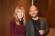 Architectural Digest Editor in Chief Amy Astley and architect Vincent Van Duysen attend the Grand Opening Dinner Celebration of Molteni Group's New York Flagship on May 16, 2018 in New York City.
