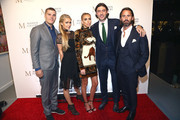 Chris Zylka, Paris Hilton, Petra Ecclestone, Sam Palmer and Jay Rutland attend the Grand Opening Maddox Gallery Los Angeles on October 11, 2018 in West Hollywood, California.