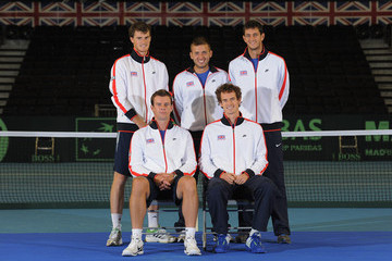 Andy Murray Dan Evans Great Britain v Luxembourg - Davis Cup Previews