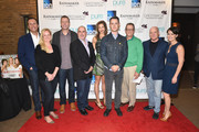 Charlie Collier, Colleen deVeer, Russell Frederick, Terence Winter, Alysia Reiner, Colin Hanks, Marshall Fine, Thomas Kelly and Wendy Stapleton Reyes pose for a group photo during Greenwich Film Festival 2015 - Changing Face Of Television on June 6, 2015 in Greenwich, Connecticut.