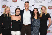 (L-R) Ginger Stickel, Wendy Stapleton Reyes, Mark Teixeira,  Leigh Teixeira and Colleen deVeer attend Greenwich Film Festival 2015 - Sports Guys On Sports Movies After Party at Miller Motorcars on June 4, 2015 in Greenwich, Connecticut.