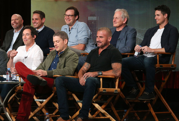 Winter TCA Tour: Day 5 [winter tca,front row,l-r,back row,social group,event,team,actors,actors,executive producers,dominic purcell,tom cavanagh,wentworth miller]