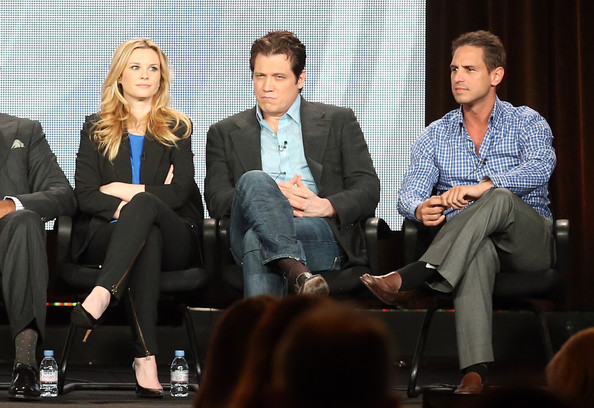 2013 Winter TCA Tour - Day 9 [golden boy,event,conversation,interaction,white-collar worker,adaptation,collaboration,job,business,employment,convention,greg berlanti,actors,audience,bonnie somerville,holt mccallany,questions,l-r,winter tca,cbs]