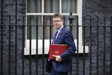 Greg Clark British Cabinet Ministers Attend Their Weekly Meeting