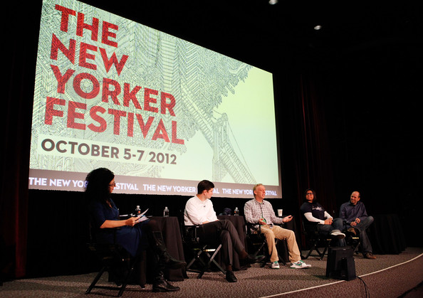 The New Yorker Festival 2012 - The Future of Sitcoms. Laughing Matter - Greg Garcia, Nuhnatchka Khan, Michael Schur, And Mike White With Emily Nussbaum