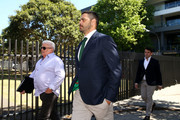 South Sydney Rabbitohs captain Greg Inglis arrives to speak to the media during a press conference at Redfern Oval on October 2, 2018 in Sydney, Australia. Inglis was yesterday charged with a drink driving offence.